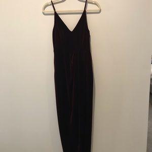 AQUA Burgundy Velvet Gown